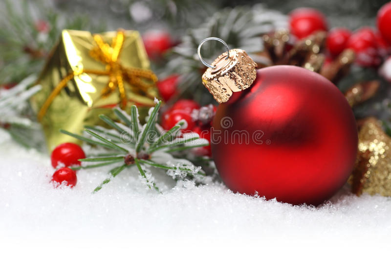 Download Christmas Border With Ornament Stock Image - Image: 33102291