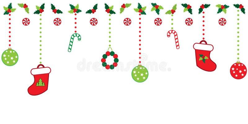 Christmas border stock illustration. Illustration of candy ... (1600 x 800 Pixel)
