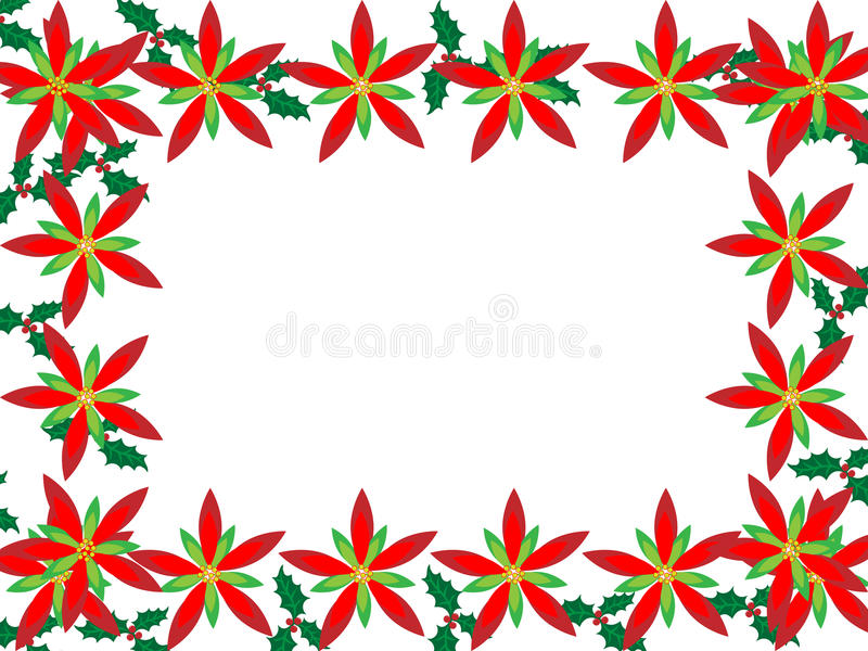 Download Christmas Border With Poinsettias Stock Vector - Image: 11677364