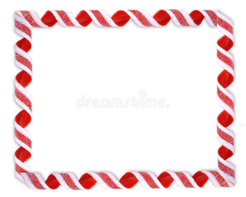 Christmas Border Ribbon Candy royalty free illustration