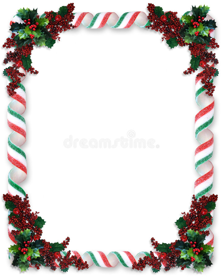 christmas border ribbon candy stock illustration image
