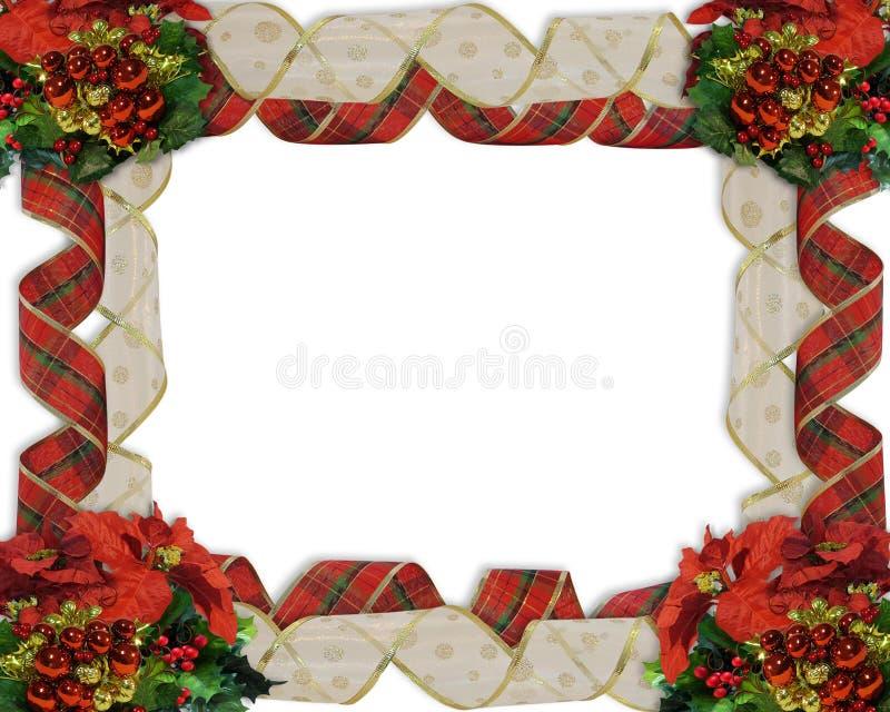 Christmas Border Ribbons vector illustration