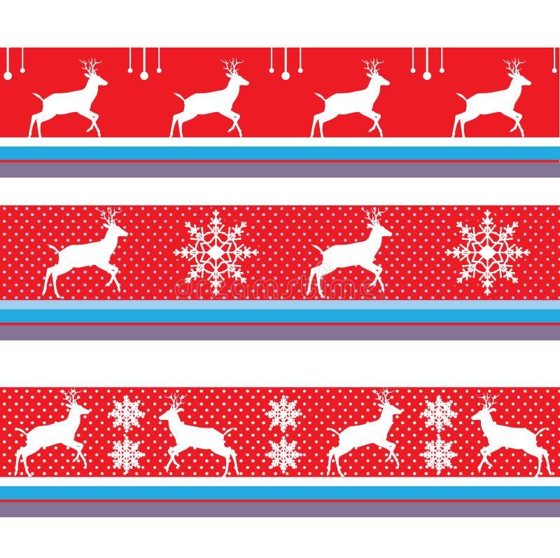 CHRISTMAS REINDEER BORDER VECTOR DECORATION RED. CHRISTMAS BORDER VECTOR DECORATION PACK RED 2019. Artistic, Vector - Border. Decorative ornament. Winter, Marry vector illustration