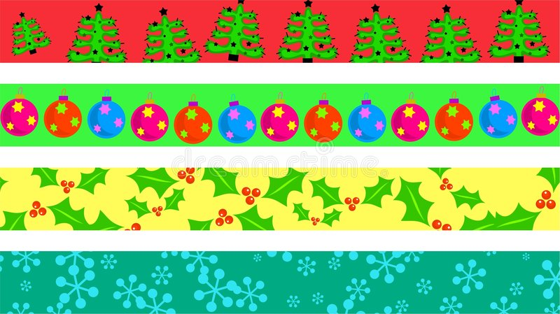 Christmas borders vector illustration