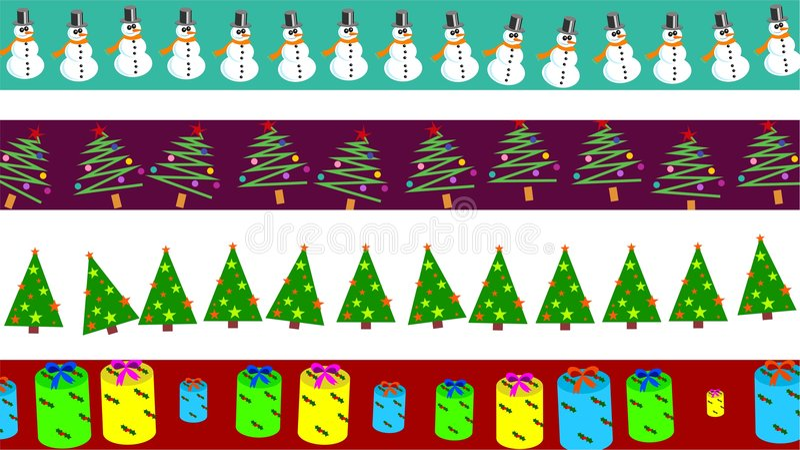 Christmas borders stock illustration