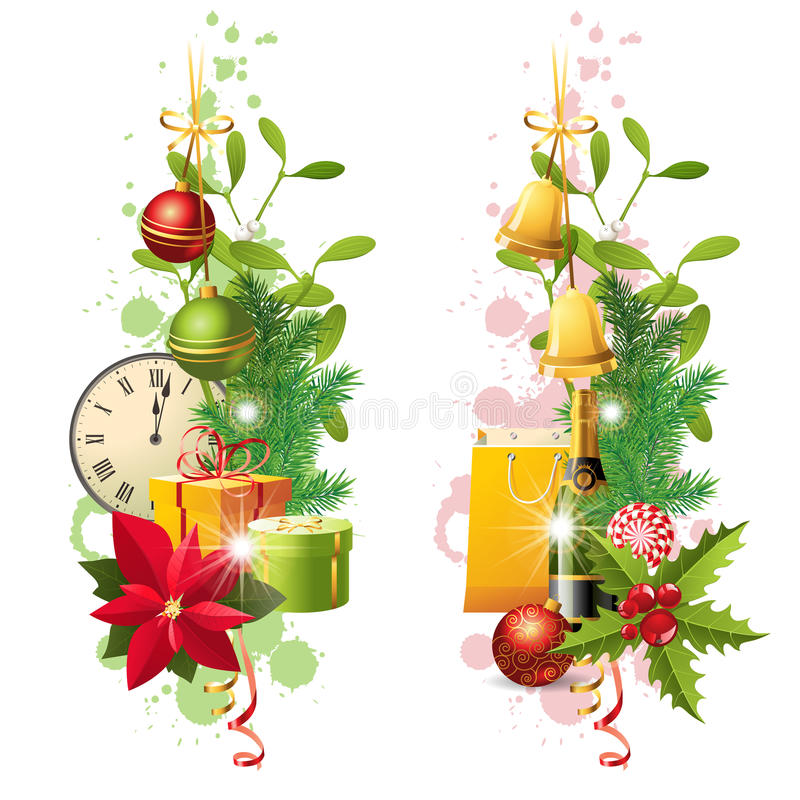 Download Christmas borders stock vector. Image of illustration - 34855502