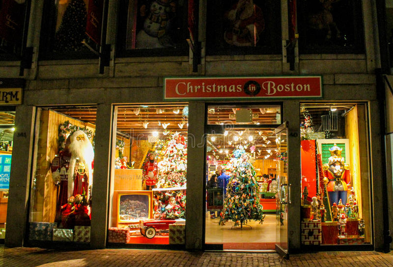 Christmas In Boston Store, Faneuil Hall, Boston, MA Editorial ...