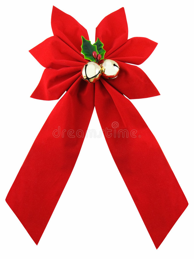 Download Christmas Bow stock photo. Image of holly, ribbon, white - 3629948