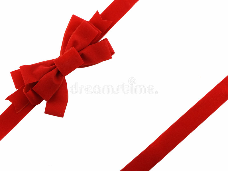 Download Christmas Bow stock image. Image of white, ribbon, isolated - 3629953