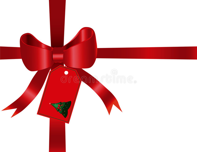 Christmas Bow Background royalty free stock photo