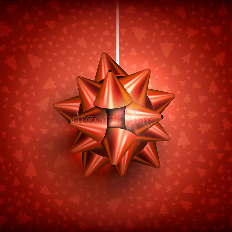 Christmas bow glossy-02 stock illustration