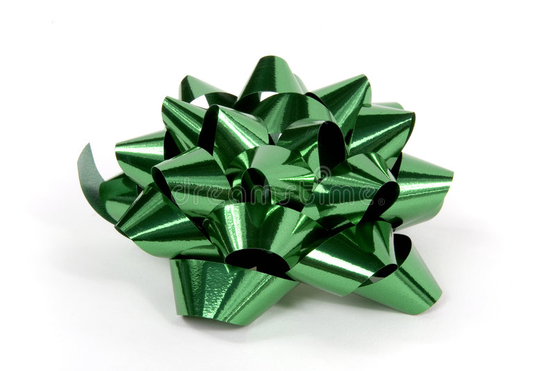 Christmas bow in green royalty free stock image
