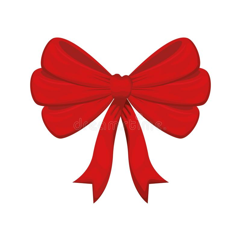 Free Christmas Bow Isolated Icon Stock Images - 144241104