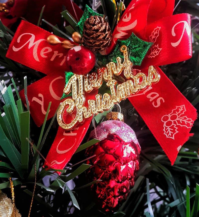 Christmas Bow Ornament stock photos