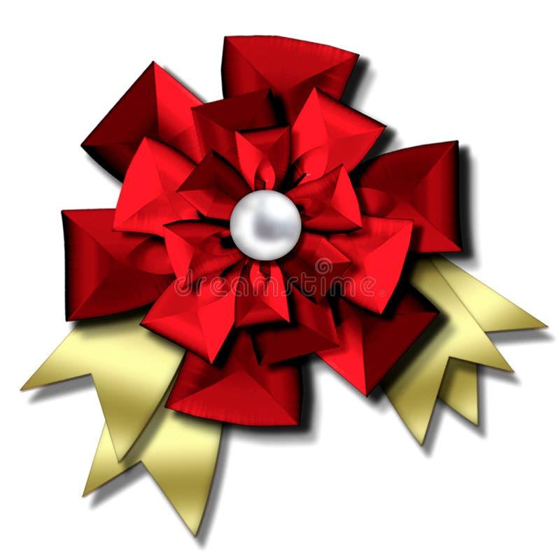 Christmas bow & ribbons royalty free illustration