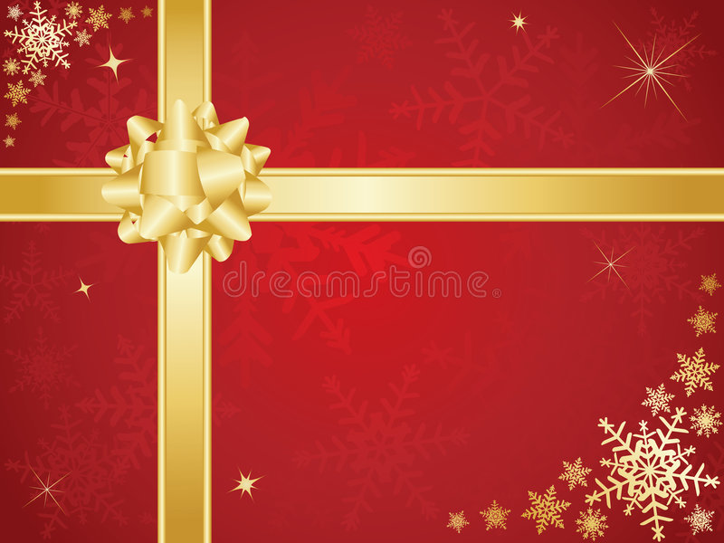 Download Christmas bow and ribbons stock vector. Image of ribbon - 7061914