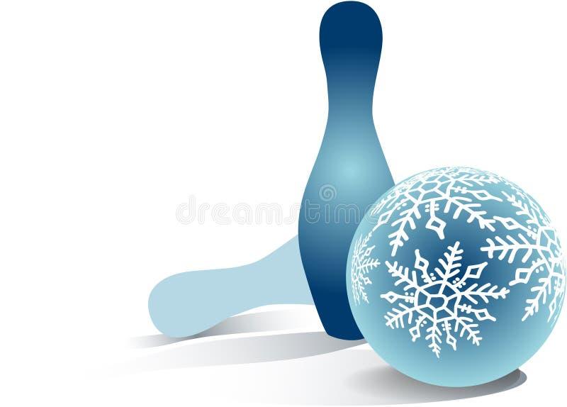 Christmas bowling ball vector illustration