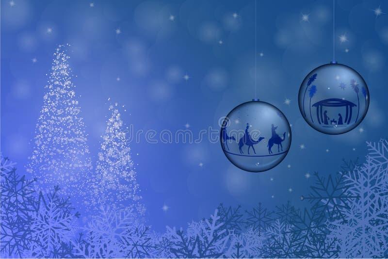 Christmas time - bowls royalty free illustration