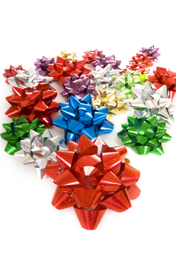 Christmas Bows Background Stock Photo