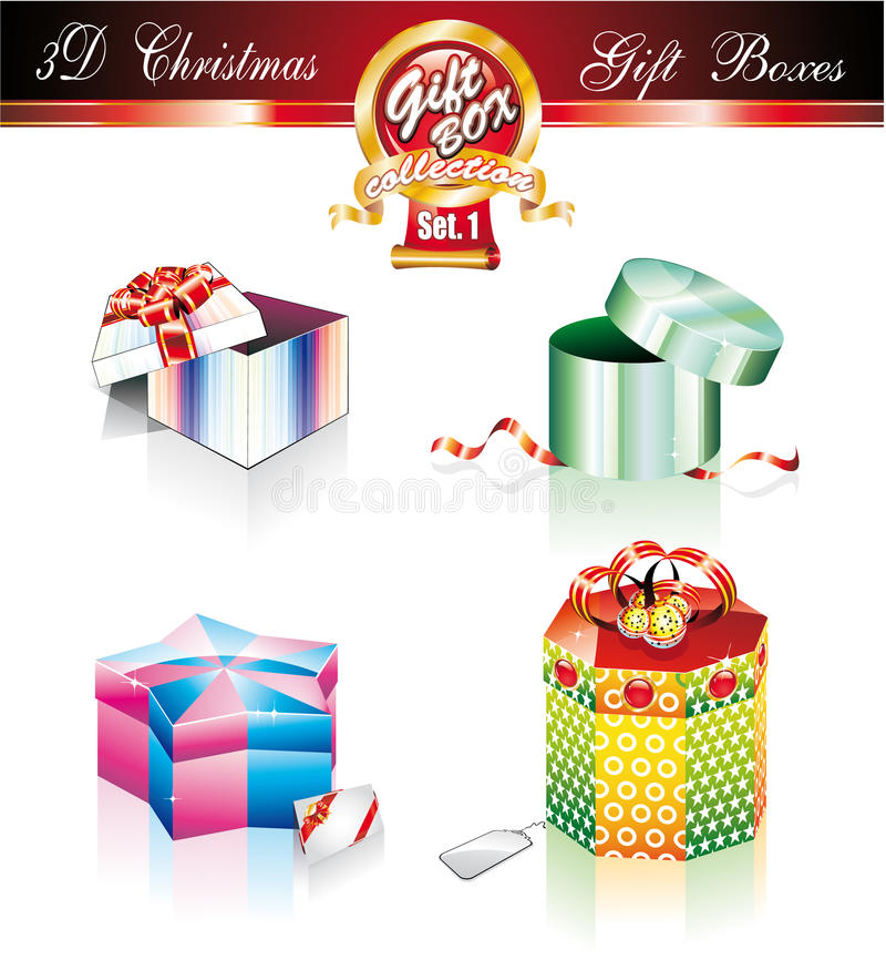 Free Christmas Box Luxury Collection - Set 1 Royalty Free Stock Photography - 10624057