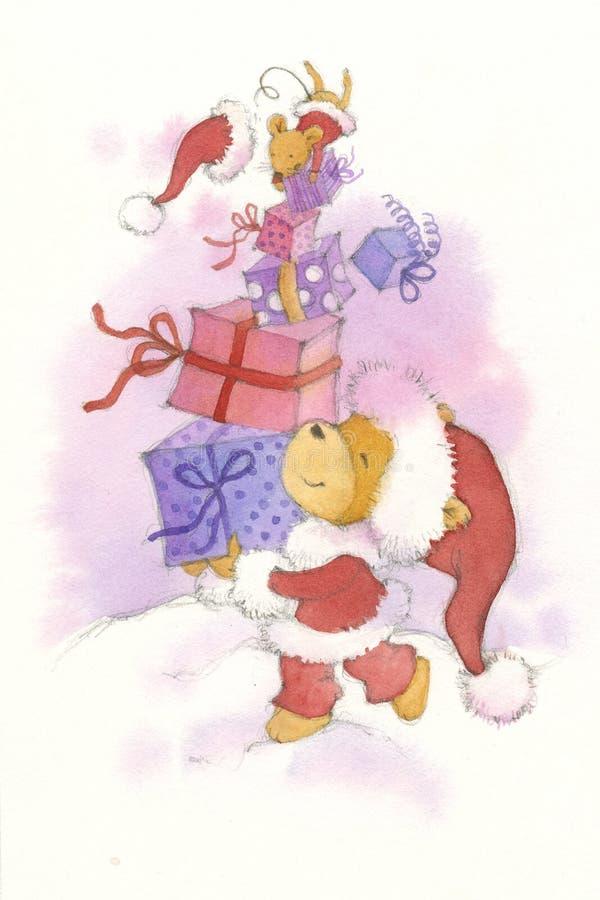 Christmas boxes royalty free stock photo