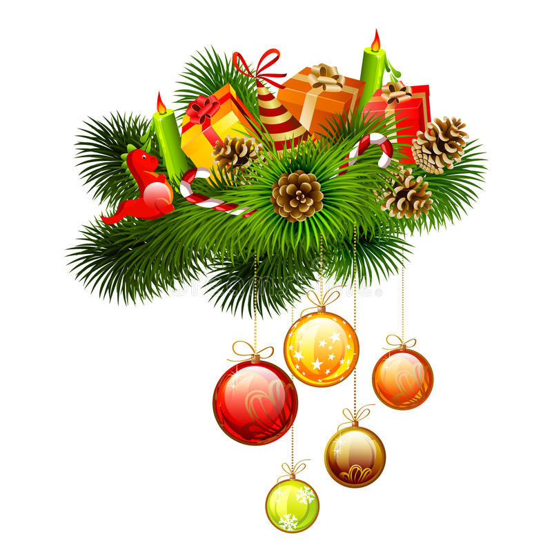 Download Christmas branch stock vector. Image of festive, creative - 22947012
