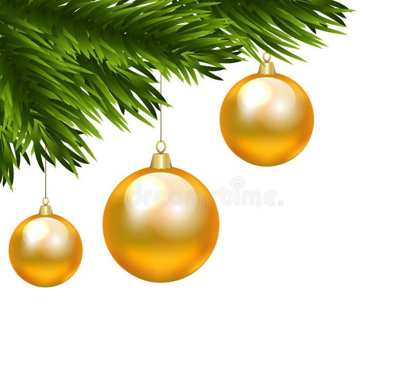 Christmas branch vector illustration