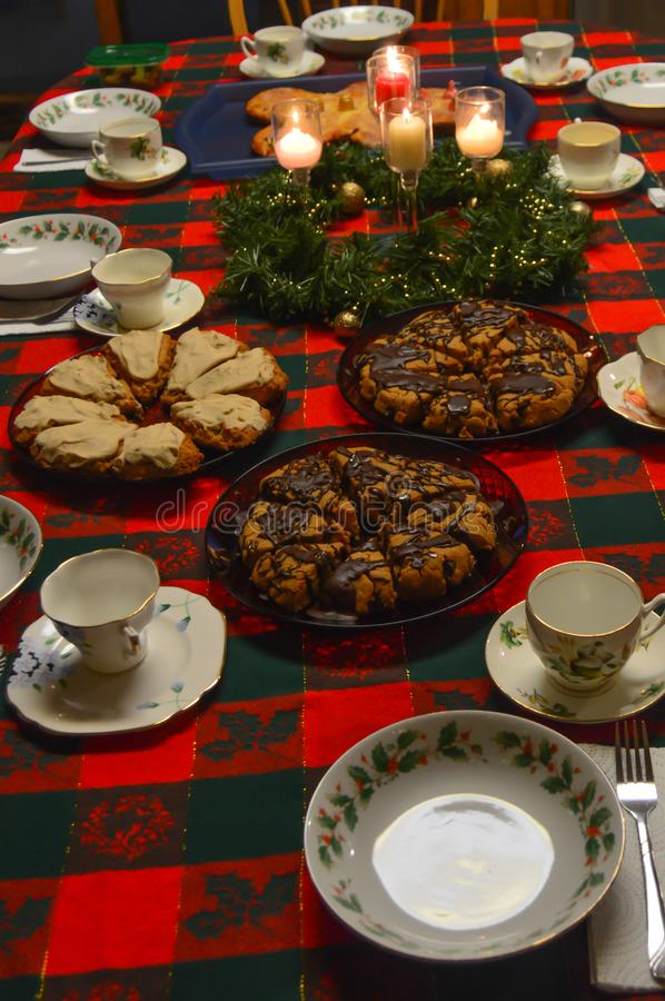 Free Christmas Breakfast Table With Scones Royalty Free Stock Images - 144336119