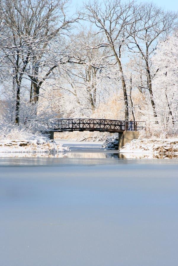 Christmas bridge stock photo