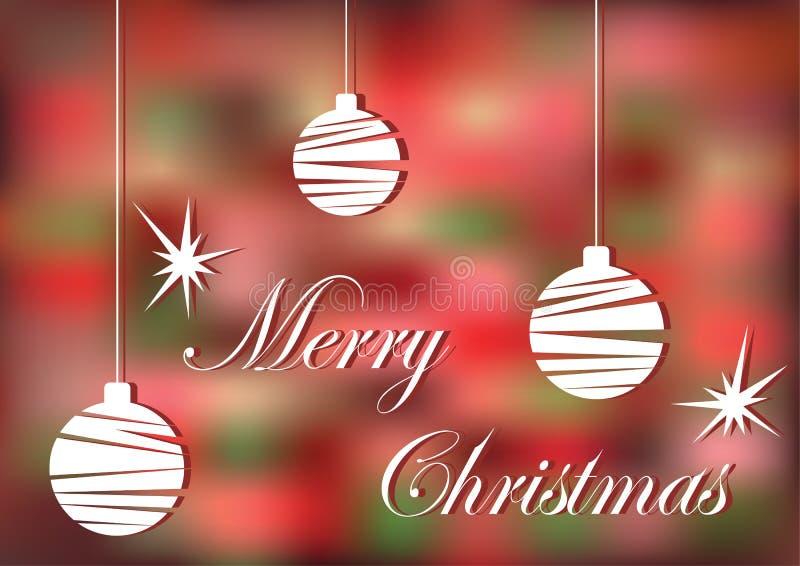 Christmas. Bright Christmas greeting card. Bright Christmas greeting card royalty free illustration