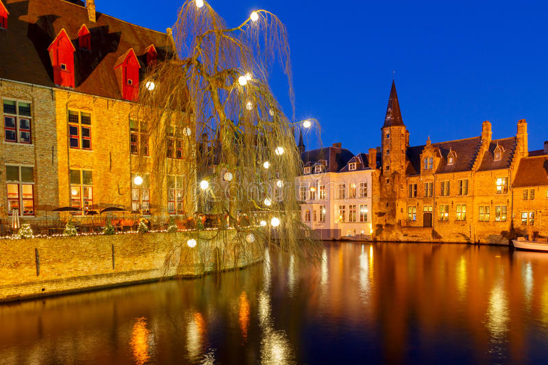 Christmas in Bruges stock photo Image of flanders canal 56262706
