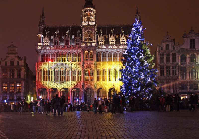 Download Christmas in Brussels stock photo. Image of tree, year - 1838566