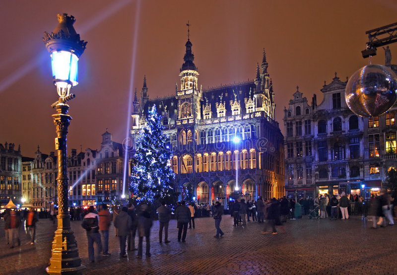 Download Christmas in Brussels stock photo. Image of square, lights - 1838606