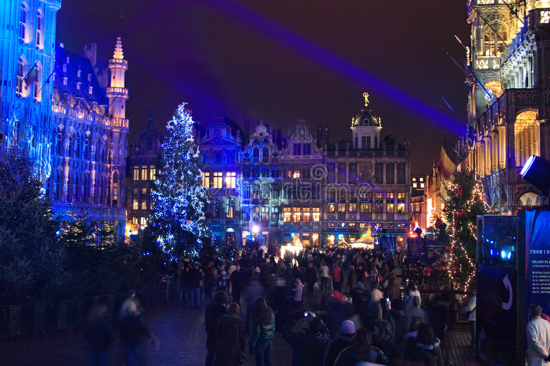 Download Christmas in Brussels stock image. Image of holiday, celebration - 1838609
