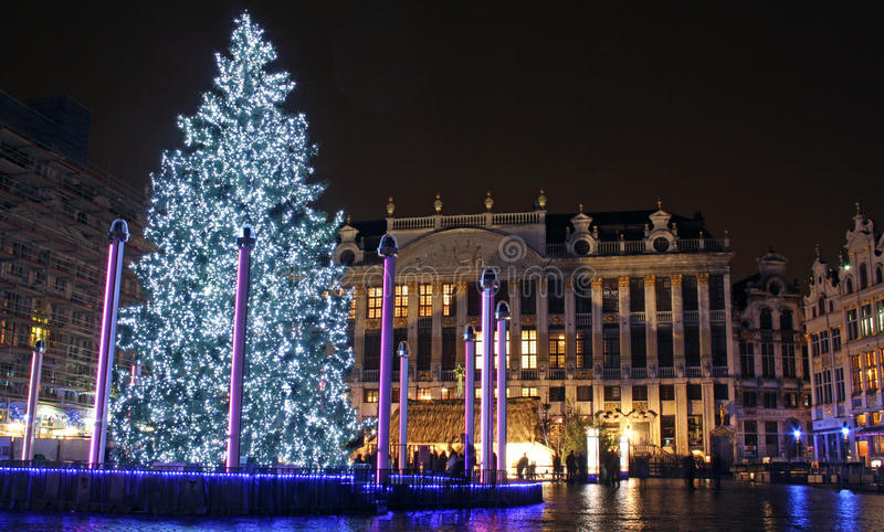 Christmas in Brussels (Belgium) stock images
