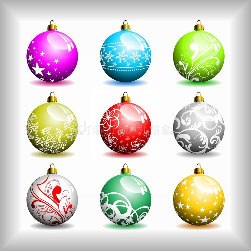 Download Christmas bubbles. stock vector. Image of season, shape - 11608678