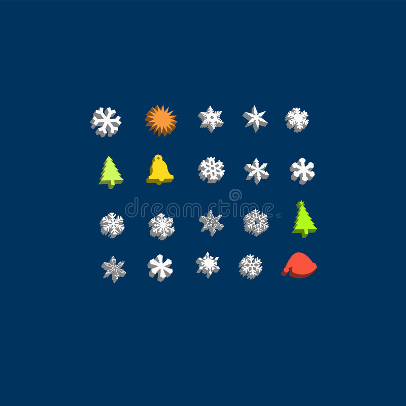 Download Christmas Buddy 3d Icon Set Stock Vector - Illustration: 6973951