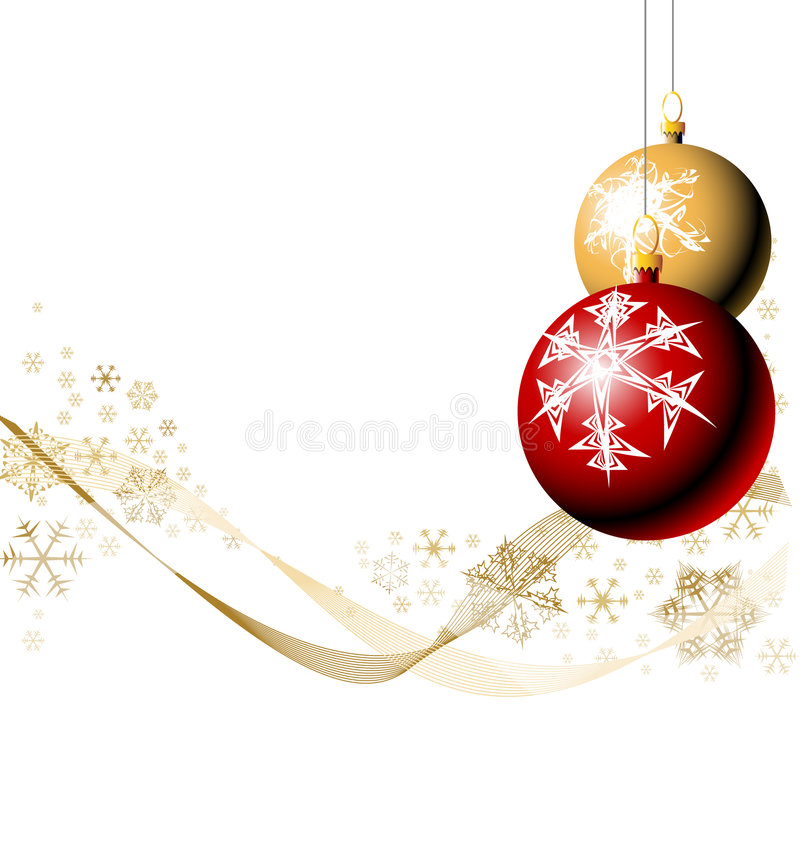 Download Christmas bulbs with snow stock vector. Image of december - 6940647