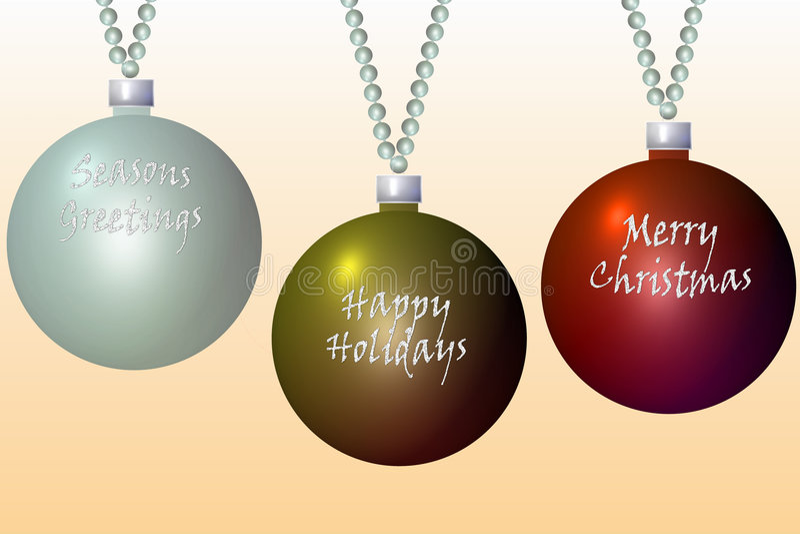 Download Christmas bulbs2 stock illustration. Illustration of silver - 3502622