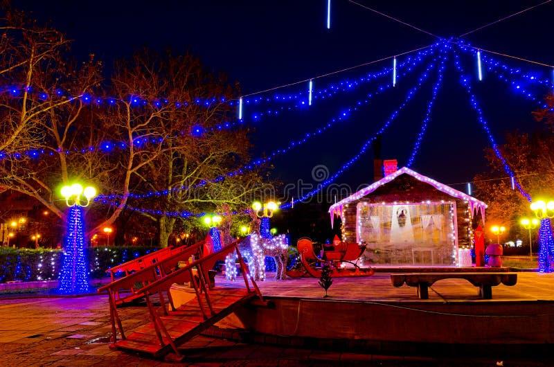 Download Christmas in Burgas stock image. Image of illumination - 28106281