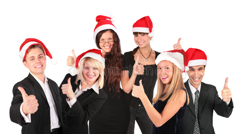 Download Christmas Business People Group Stock Image - Image: 7347059