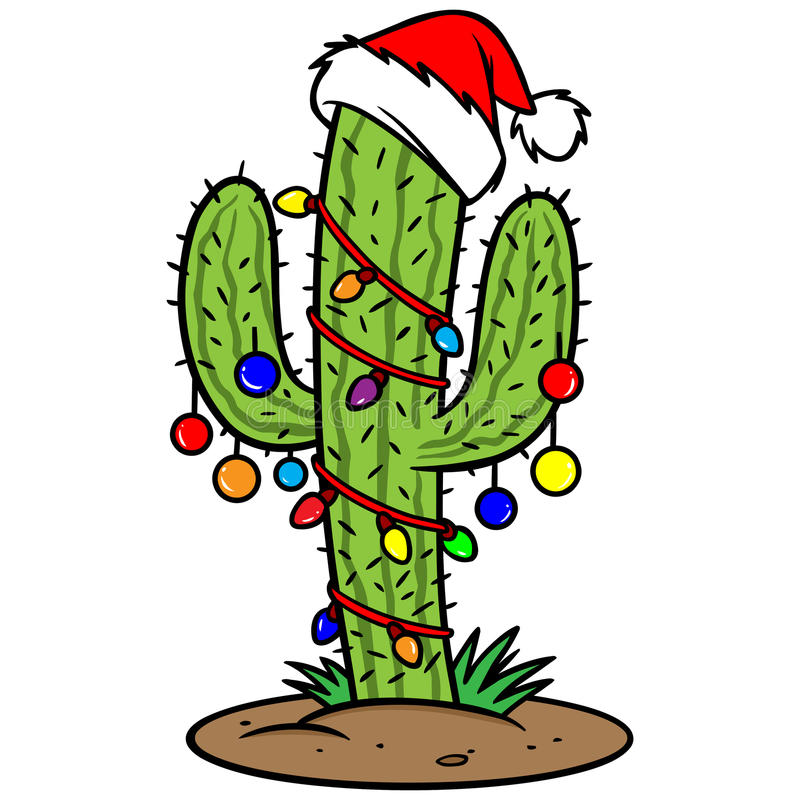 Christmas Cactus. Vector illustration of a Christmas Cactus vector illustration