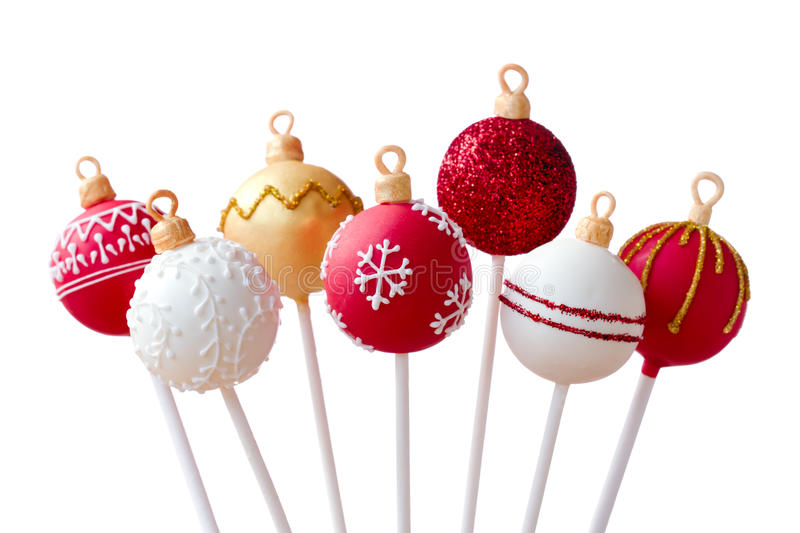 Christmas cake pops royalty free stock photography