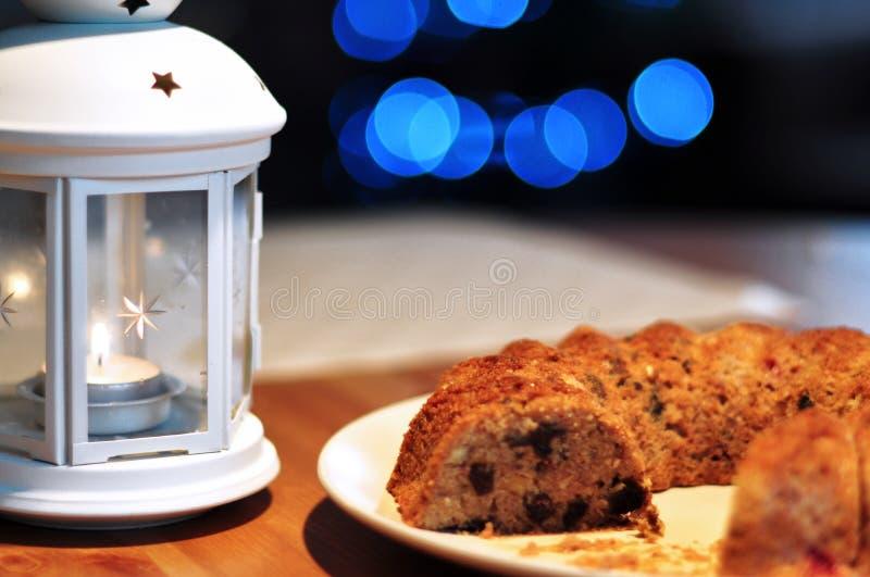 Christmas cake stock image