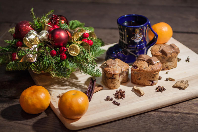 Download Christmas cakes stock photo. Image of heat, glass, object - 84300578