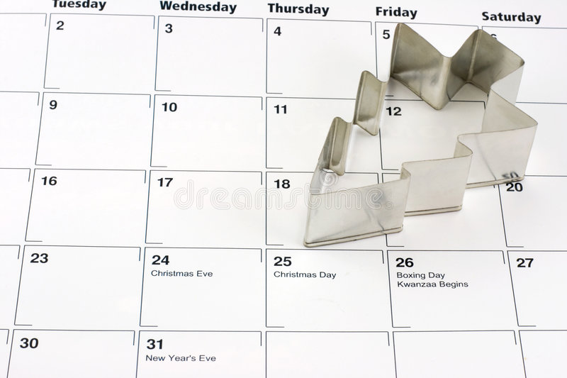 Christmas Calendar royalty free stock images