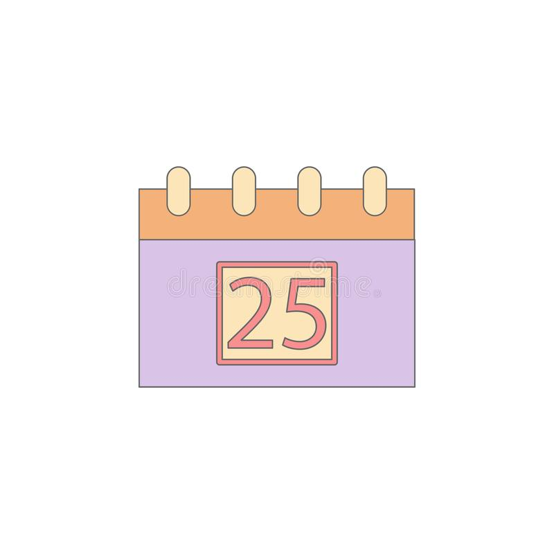 Christmas calendar colored icon. Element of Christmas holiday colored icon. Premium quality graphic design icon. Signs and symbols stock illustration