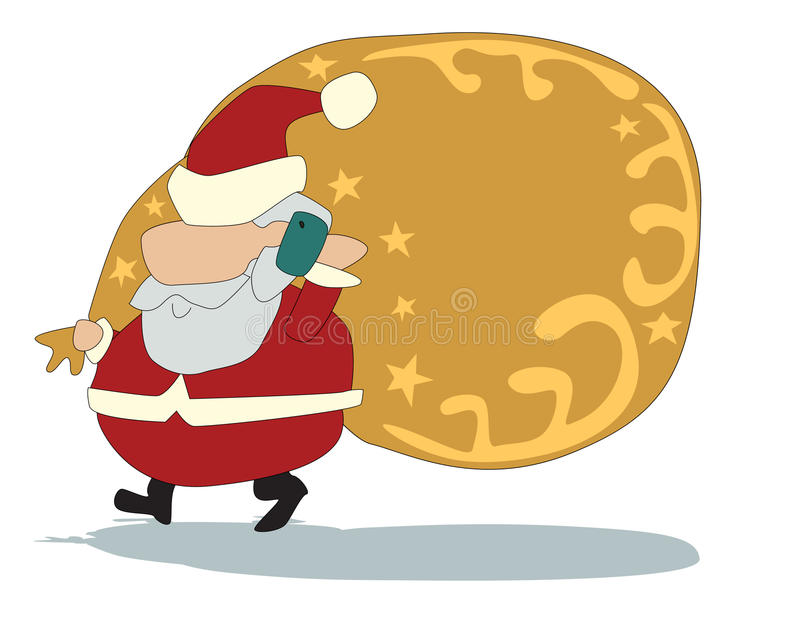 Christmas Call stock photo