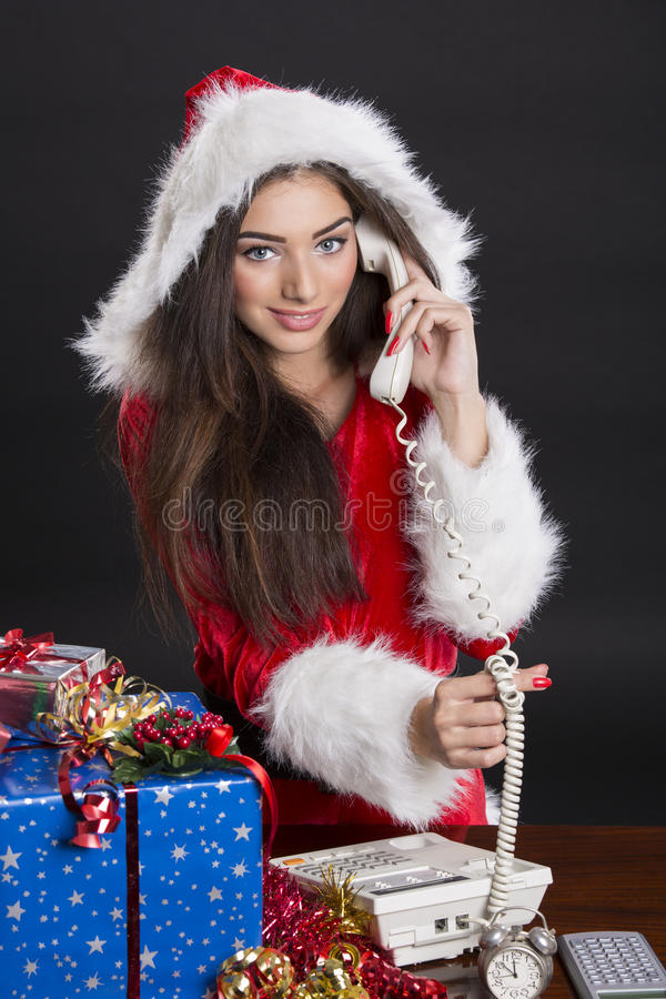 Christmas calls stock images
