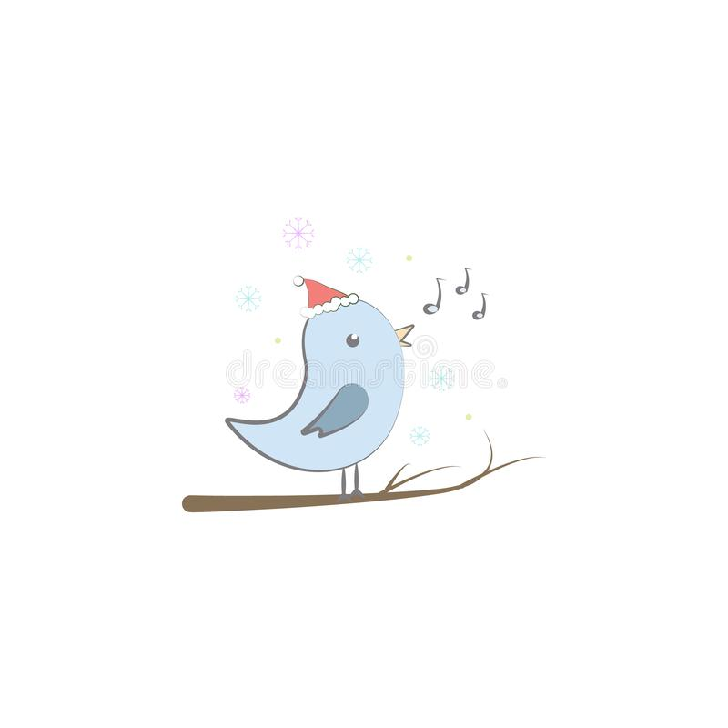Christmas canary icon. Element of Christmas for mobile concept and web apps. Colored Christmas canary illustration can be used for stock illustration